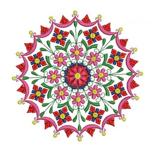 Flora Circle Embroidery Designs 1