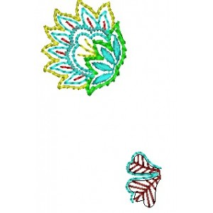 Two Butta Embroidery Designs