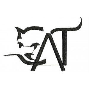 Cat logo Embroidery designs