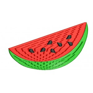 Cutted Watermelon Embroidery Designs