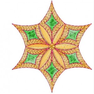 Colourful Star Embroidery Designs