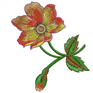 Beautiful Flower Embroidery Design