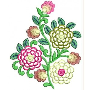 Creative Flowers Embroidery Desing