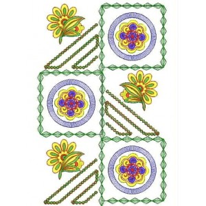 New Abstract Shape flower embroidery design