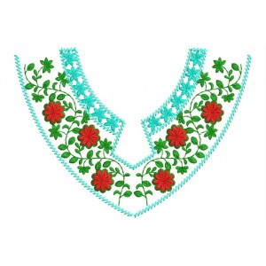 Flower Neckline Embroidery Designs 500