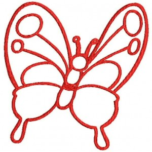Butterfly outline Embroidery Designs