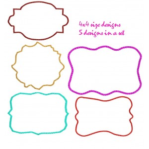 Embroidery Frame Designs Set