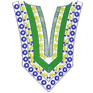 Split Neckline V shaped Embroidery Designs