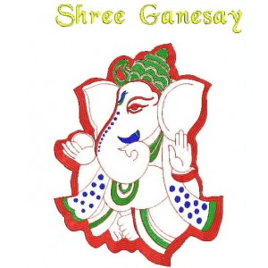 Indian Embroidered Ganeshya