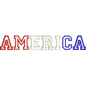 America embroidery Applique Designs