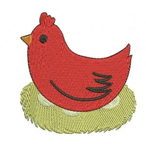 Little Red Hen Embroidery Designs