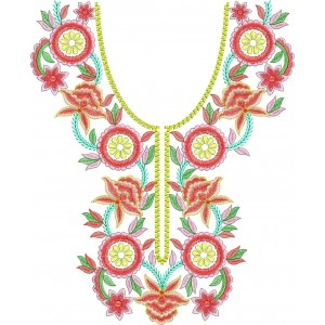 Colourful Neckline Designs
