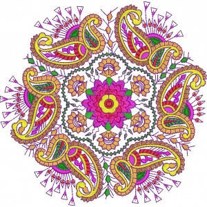 Heavy Colorful Embroidery Designs 7