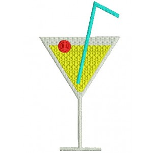 Cocktail Embroidery designs