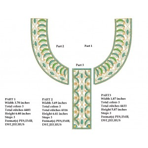 Small Split Neckline Embroidery Designs 1