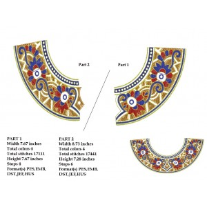 Small Split Neckline Designs 3