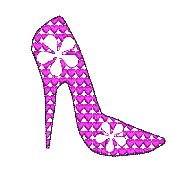 Free High Heel Shoe Embroidery Design