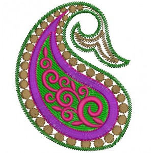 paisely Embroidery Designs 3065