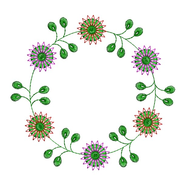 Embroidery Frame Floral Circle Designs Embroideryshristi