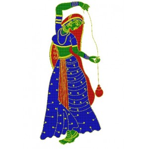 Large Doll Embroidery Design