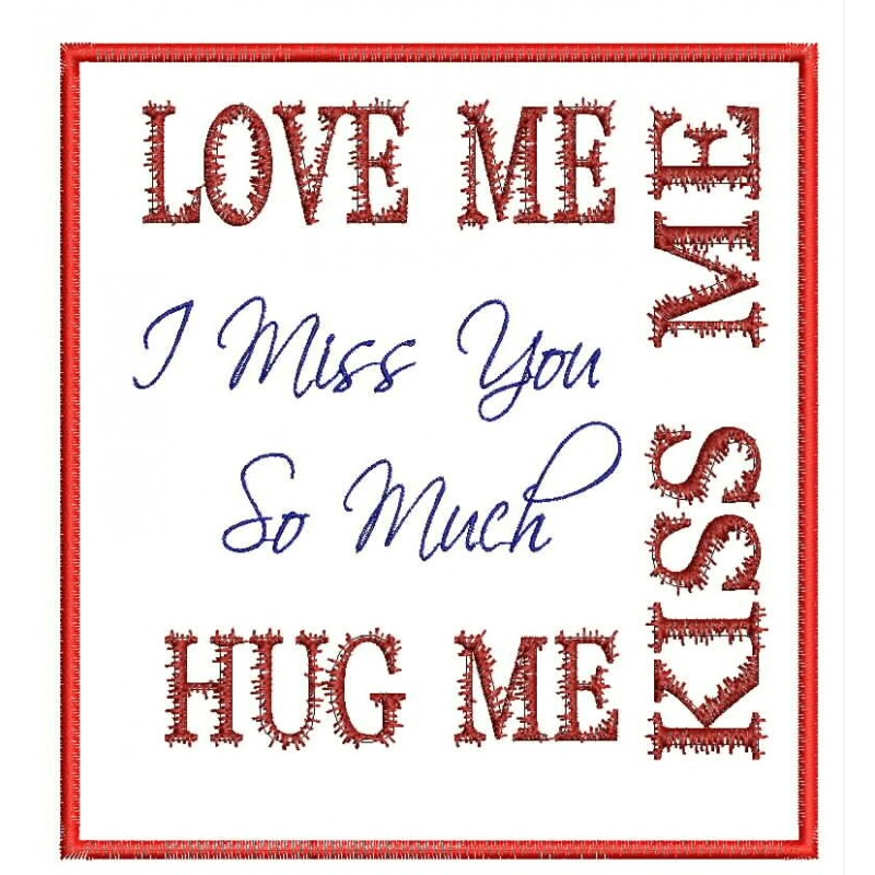 I Miss You So Much Embroidery Designmiss Youquote Embroidery