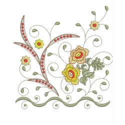 Splitted Daman Embroidery Designs 9x12