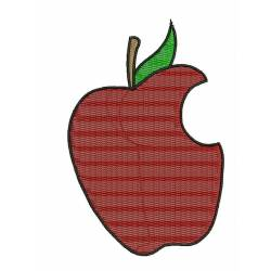 Cutted Apple Embroidery Design