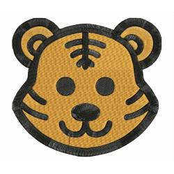 Tiger Animal Face Embroidery Design