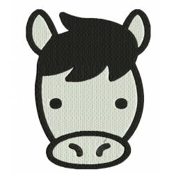 Cow Face Animal Embroidery Design