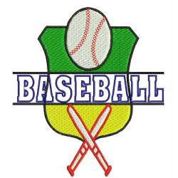 Baseball Logo Embroidery Design