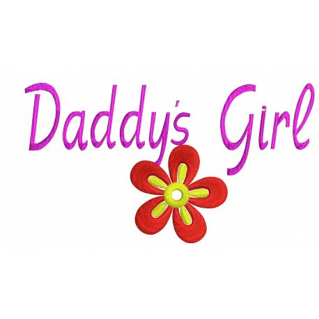 Daddy Girl Embroidery Designs