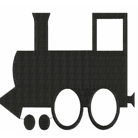 Train Silhouette Embroidery Design