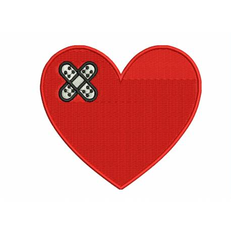 Medical Heart With Band Aid Design