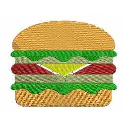 Burger Embroidery Design