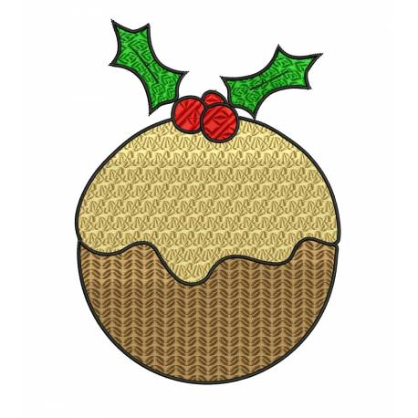 Christmas Pudding Embroidery Design