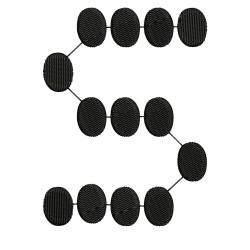 small s dot embroidery design