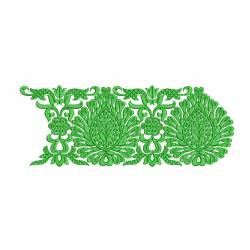 Green Embroidery Border Design 5