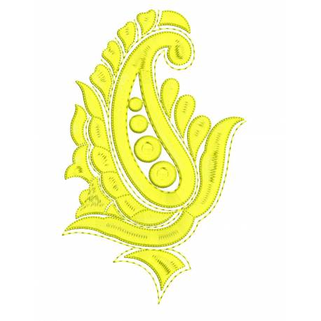 Abstract Paisley Embroidery Design