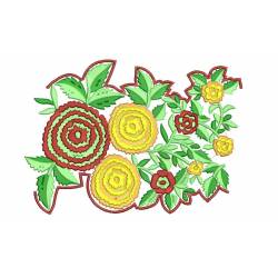 Nice Flower Border Embroidery design