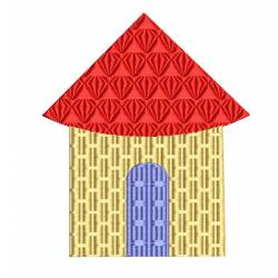 House Hut Embroidery Design 4x4