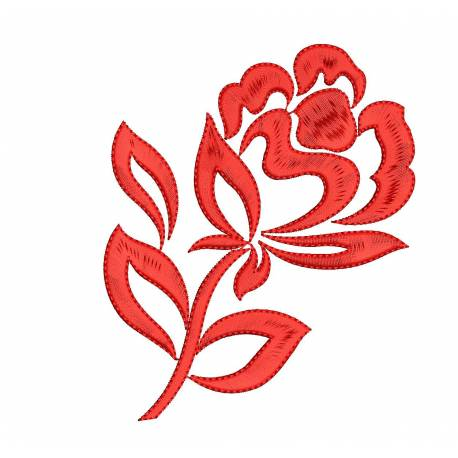 Red Rose Flower Embroidery Design