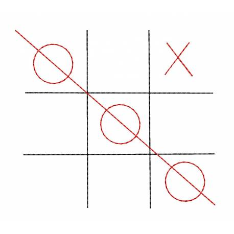 Tic tac toe Embroidery Design