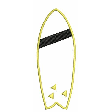 Surf Board Embroidery Design