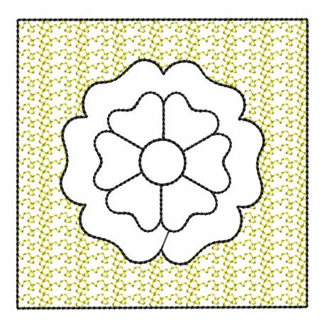 Stippling Flower Embroidery Design