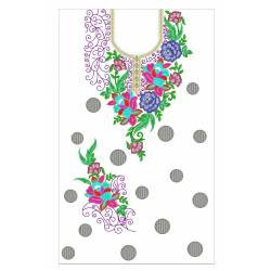 Full Machine Embroidery Dress Design 12