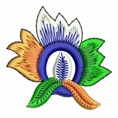Triranga Flower Patriotic Embroidery Design