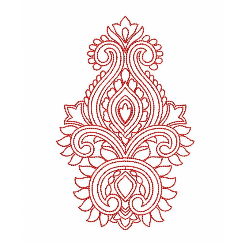 Black Stitches Outline Embroidery Design