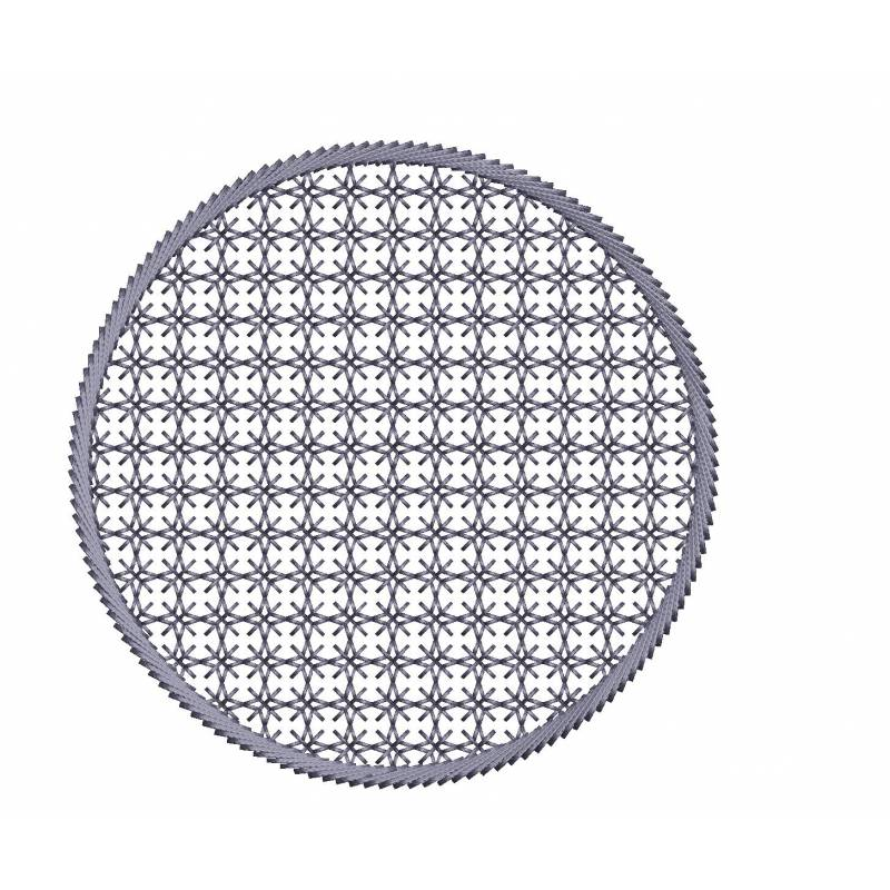 Motif Filled Circle Embroidery Design