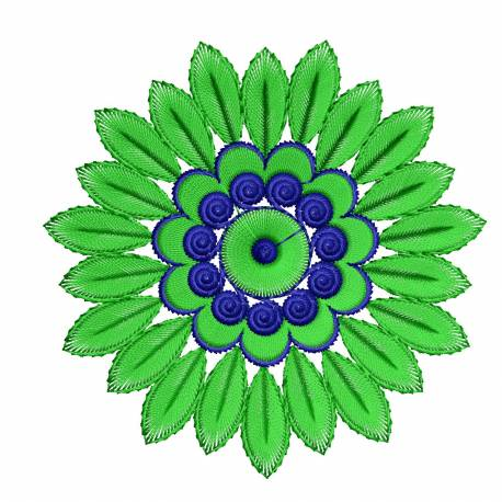 Beautiful Flower Embroidery Design 4x4