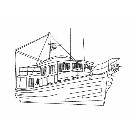 Yacht Ship Outline